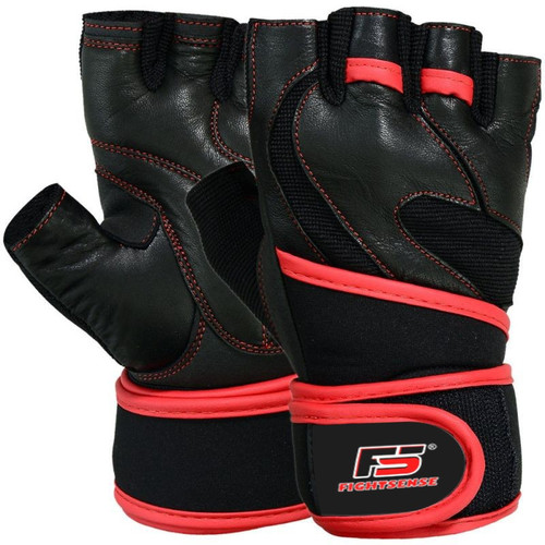 FIGHTSENSE Weightlifting Leather Gloves www.fsboxing.com