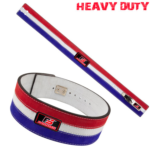 Nubuck Leather Weight Lifting Lever Pro Belt Back Support Gym Training Bodybuilding Flag Color