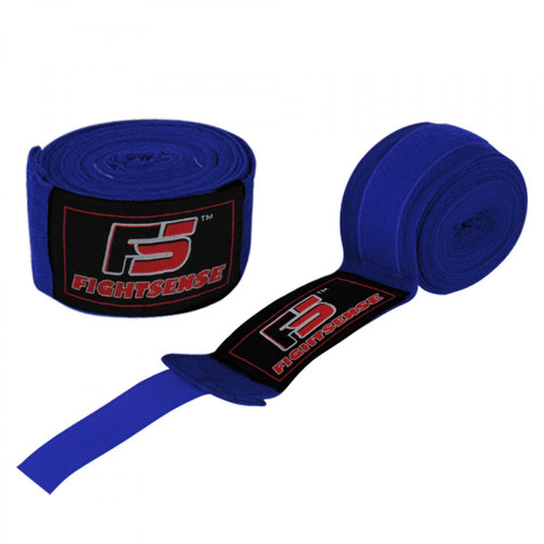 "Boxing Hand Wraps inner gloves 180"" Elastic MMA Muay Thai Bandage New Pair Bllue"