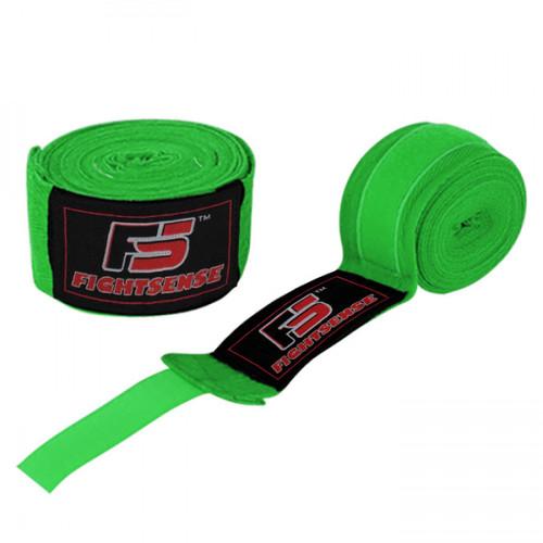 "Boxing Hand Wraps inner gloves 180"" Elastic MMA Muay Thai Bandage New Pair Green"