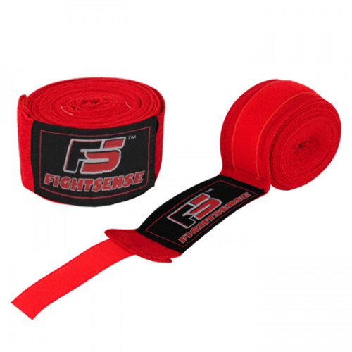"Boxing Hand Wraps inner gloves 180"" Elastic MMA Muay Thai Bandage New Pair  Red"