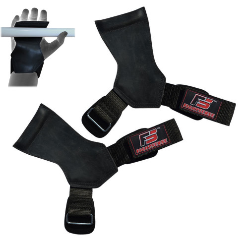 Weight Lifting Palm Grip Gloves Neoprene Gym Workout Straps Training Hand Wraps
