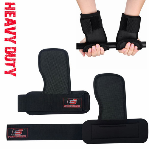 Fitness Palm grips Weight lifting straps gloves pads Wrist  wraps gloves