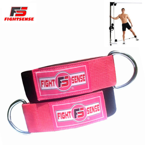 Ankle D-Ring Strap Thigh Pulley Lifting Padded Multi GYM Cable Attachment Pink