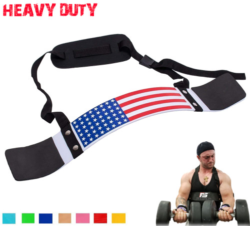 FIGHTSENSE Arm Blaster Biceps Curl Triceps Muscle Isolator Bomber Fitness Gym Workout Training Support Flag