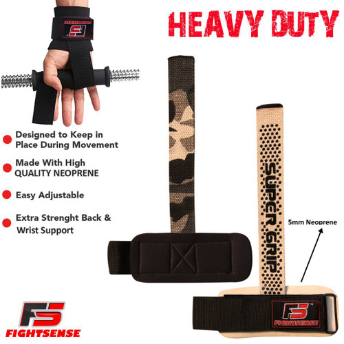 FIGHTSENSE Weightlifting Supper Grip Strap www.fsboxing.com