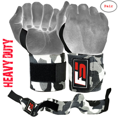 "FIGHTSENSE Weightlifting Wrist Wraps 18"" www.fsboxing.com"