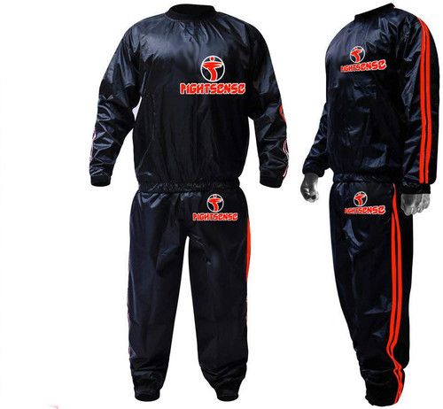 FIGHTSENSE Sauna Suit Orange Color www.fsboxing.com