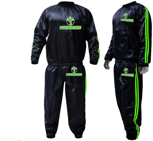 FIGHTSENSE Sauna Suit Green www.fsboxing.com