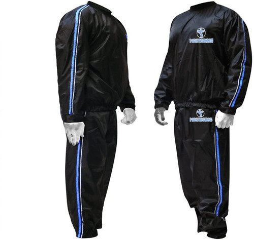 FIGHTSENSE Sauna Suit Blue Color www.fsboxing.com