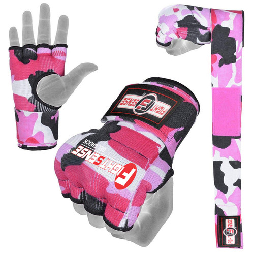 FIGHTSENSE Padded Gel Inner Gloves with Long Wraps for Boxing www.fsboxing.com