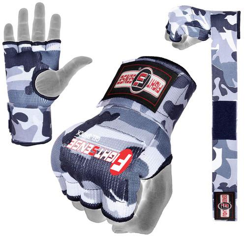 FIGHTSENSE Padded Gel Inner Gloves with Long Wraps for Boxing www.fsboxing.com