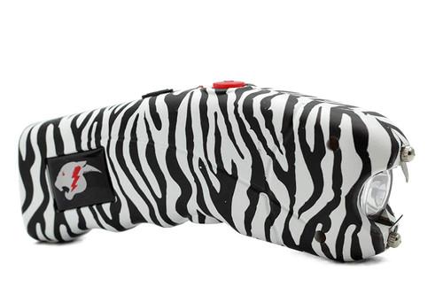 FIGHTSENSE Stun Gun for Self Defense with Alarm Bright Led Flashlight Zebra www.fsboxing.com