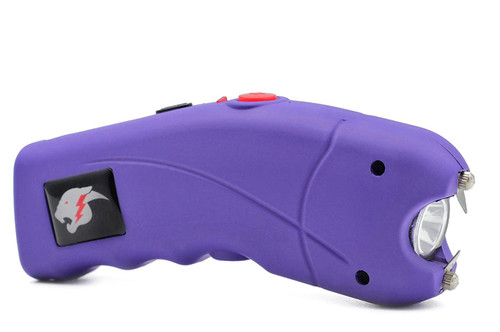 FIGHTSENSE Stun Gun for Self Defense with Alarm Bright Led Flashlight Purple www.fsboxing.com