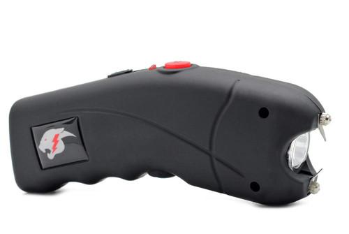 FIGHTSENSE Stun Gun for Self Defense with Alarm Bright Led Flashlight Black www.fsboxing.com