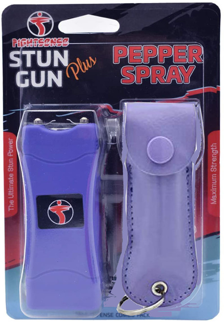 Stun Gun & Pepper Spray Combo Pack Purple www.fsboxing.com