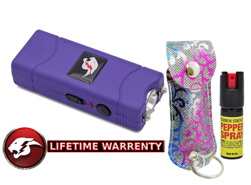 Stun Gun & Pepper Spray Combo Pack Purple Multi www.fsboxing.com