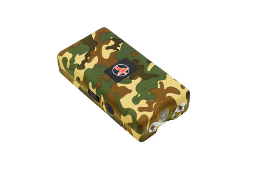 FIGHTSENSE Super Heavy Duty Stun Gun for Self Defense with Bright Led Flashlight, Rechargeable Battery, Nylon Holsters with Belt Loop for Easy Cary(Camouflage) www.fsboxing.com