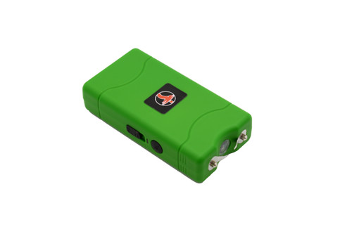 FIGHTSENSE Super Heavy Duty Stun Gun for Self Defense with Bright Led Flashlight, Rechargeable Battery, Nylon Holsters with Belt Loop for Easy Cary(Green) www.fsboxing.com