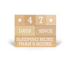 parenting blocks, funny new parent gift, sleep deprived parents, funny baby shower gift, funny photo prop for parents, whos counting blocks for parents, sleeping more than 5 hours