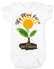 spring flowers baby, mom has a green thumb, mom has a dirty mouth, moms who cuss, moms who garden, moms who grow plants, plant growing in spring on baby bodysuit, punny gift for gardening mom, mommy's sprout, funny spring baby gift, gardening baby gift, white