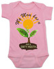spring flowers baby, mom has a green thumb, mom has a dirty mouth, moms who cuss, moms who garden, moms who grow plants, plant growing in spring on baby bodysuit, punny gift for gardening mom, mommy's sprout, funny spring baby gift, gardening baby gift, pink