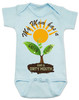 spring flowers baby, mom has a green thumb, mom has a dirty mouth, moms who cuss, moms who garden, moms who grow plants, plant growing in spring on baby bodysuit, punny gift for gardening mom, mommy's sprout, funny spring baby gift, gardening baby gift, blue