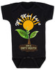 spring flowers baby, mom has a green thumb, mom has a dirty mouth, moms who cuss, moms who garden, moms who grow plants, plant growing in spring on baby bodysuit, punny gift for gardening mom, mommy's sprout, funny spring baby gift, gardening baby gift, black