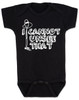 I can't unsee that, funny childbirth baby bodysuit, funny coming home from hospital baby onesie, baby can't unsee that, silly baby gift, baby bodysuit with funny saying, black