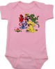 The Original Voltron baby Bodysuit, classic cartoons, defender of the universe, pink