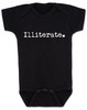 Illiterate baby, funny offensive baby gift, baby can't read yet, funny baby shower gift, baby onesie with funny saying, black