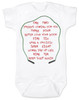 Freddy Krueger movie, freddy baby bodysuit, baby gift for parents who love horror movies, horror movie baby bodysuit, movie quote on baby bodysuit, 1 2 freddy's coming for you, song from freddy movie on baby shirt, horror movie fan gift, white