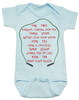 Freddy Krueger movie, freddy baby bodysuit, baby gift for parents who love horror movies, horror movie baby bodysuit, movie quote on baby bodysuit, 1 2 freddy's coming for you, song from freddy movie on baby shirt, blue