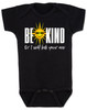 Be kind baby onesie, be kind or I'll kick your ass, funny be kind baby onesie, being kind is cool, funny saying on baby bodysuit, funny offensive baby shower gift, black