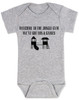 Welcome to the jungle guns and roses, classic rock themed baby gift, rock band baby onesie, Jungle Gym baby bodysuit, guns and roses baby bodysuit, funny rock and roll baby bodysuit, grey