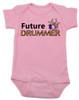 Future Drummer Baby Bodysuit, Musician baby onsie, Drummer like daddy, rock and roll music, band Bodysuit, personalized drummer baby Bodysuit, pink