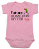 Future Home Run Hitter baby girl Bodysuit, Future Softball Player, Play Ball, Baseball, Softball, Sports baby onsie, pink