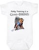 game of thrones baby Bodysuit, potty training is a game of thrones, toilet training, poop is coming, little lanister,