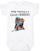 game of thrones baby Bodysuit, potty training is a game of thrones, toilet training, poop is coming, little lanister,