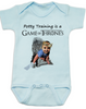 game of thrones baby Bodysuit, potty training is a game of thrones, toilet training, poop is coming, little lanister, blue