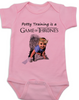 game of thrones baby Bodysuit, potty training is a game of thrones, toilet training, poop is coming, little lanister, pink