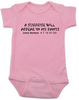 fortune cookie baby Bodysuit, a surprise will appear in my pants, baby fortune, lottery numbers baby onsie, pink