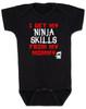I get my Ninja skills from my mommy, Ninja Baby Bodysuit, Mommy, Black