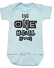 I'm ONE badass bitch baby Bodysuit, badass baby, little bitch, offensive birthday Bodysuit, badass bitch onsie, blue