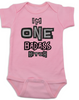 I'm ONE badass bitch baby Bodysuit, badass baby, little bitch, offensive birthday Bodysuit, badass bitch onsie, pink