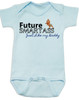 Future Smartass Baby Bodysuit, Smart-ass Dad, Smart Ass Mom, Funny parents, snarky baby onsie, blue