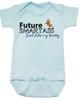 Future Smartass Baby Bodysuit, Smart-ass Dad, Smart Ass Mom, Funny parents, snarky baby onsie, blue