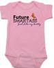 Future Smartass Baby Bodysuit, Smart-ass Dad, Smart Ass Mom, Funny parents, snarky baby onsie, pink