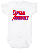 Captain Adorable Baby Bodysuit, Captain America, Superhero baby onsie, comic book infant bodysuit, Avengers, Marvel baby Bodysuit, Patriotic baby clothes