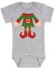 Elf Body Christmas Bodysuit, Little bodies baby Onsie, Santas little elf, Christmas party infant bodysuit, cute funny christmas baby clothes, santas helper, Elf Baby, grey